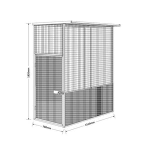 1.5 x 0.78 x 1.82 Pet Aviary House Zinc/Colour Supplied, Delivery and installation