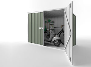 2.08 x 0.97 x 1.5-1.31 Bike Double door locker shed Supplied, Delivery and installation