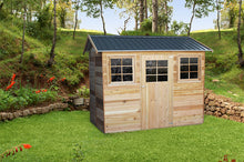 Load image into Gallery viewer, HAZEL 9X6 2.74x1.94x1.89-2.36 Cedar shed with timber flooring supplied, Delivery and installation