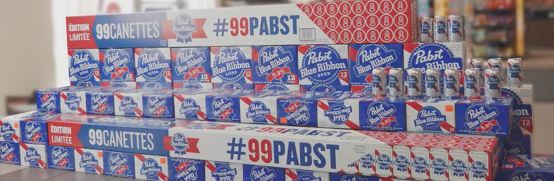 PBR's 7-Foot Long, 99-Can Family Pack Is Back!