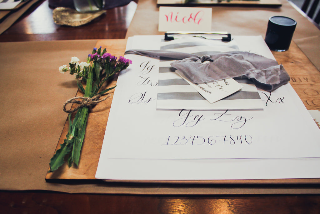 Calligraphy Workshop with Monvoir