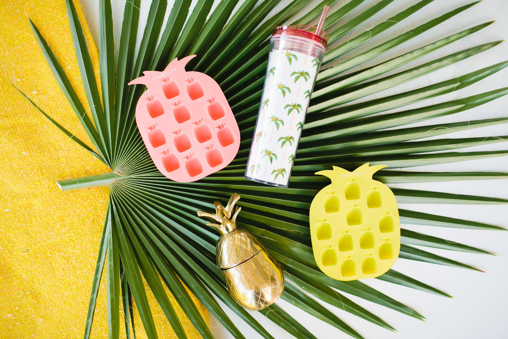 Pigment Giveaway - Pineapple Ice Trays and Tumblers