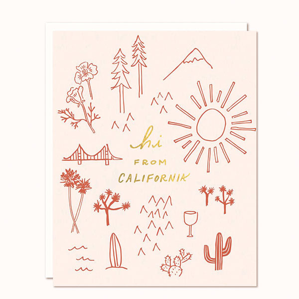 Hi From California Card - Pigment