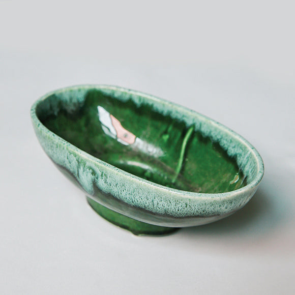 Vintage Planter - Glazed Green