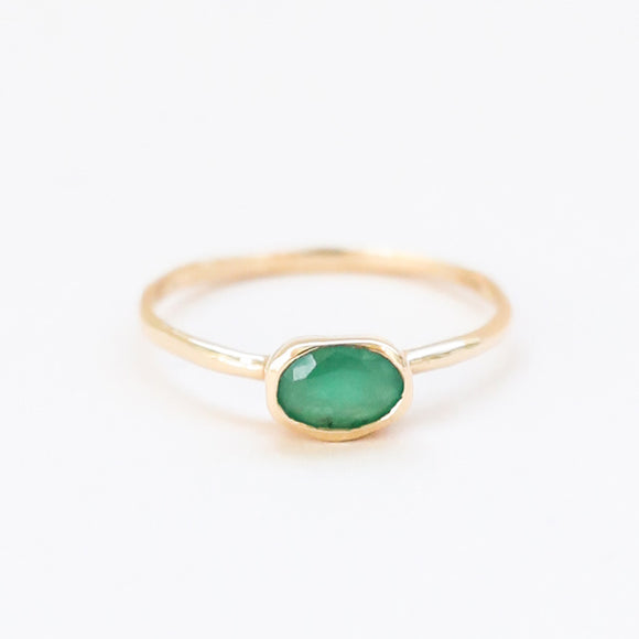 Emerald Oval West Ring