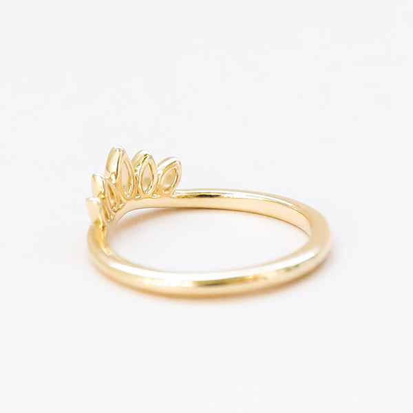 Metal Open Marquise Band