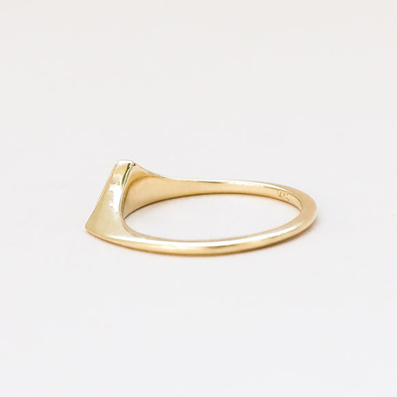 Triangle Shape Matte Ring