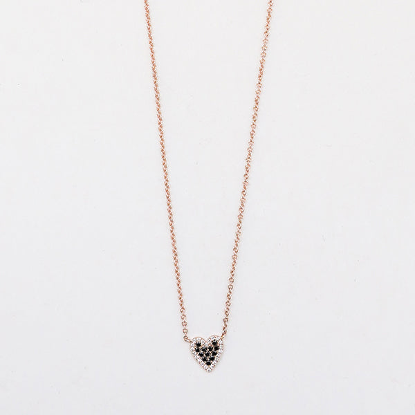 B+W Heart Necklace - Pigment