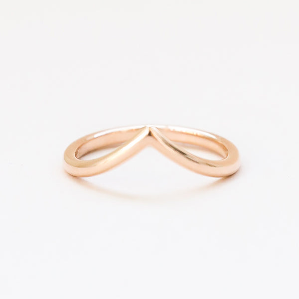 Curved V Shaped Band