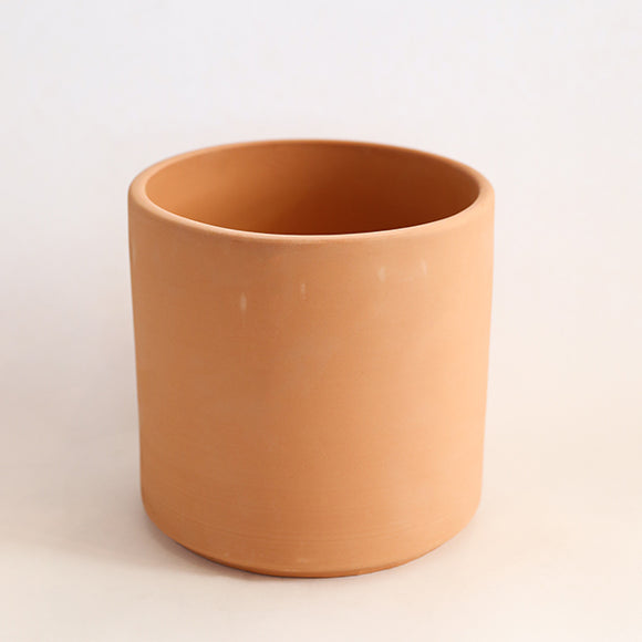 Deep Cylinder Pot - Terracotta