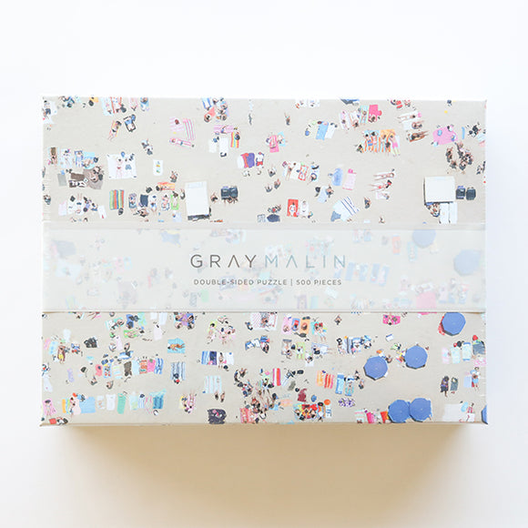 Gray Malin The Beach Double-Sided Puzzle - Pigment