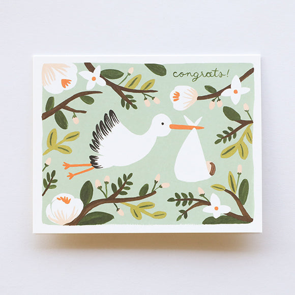 Congrats Stork - Baby Card - Pigment