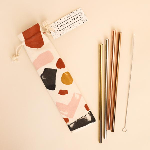 Reusable Straw Set - Geo Sunrise - Pigment