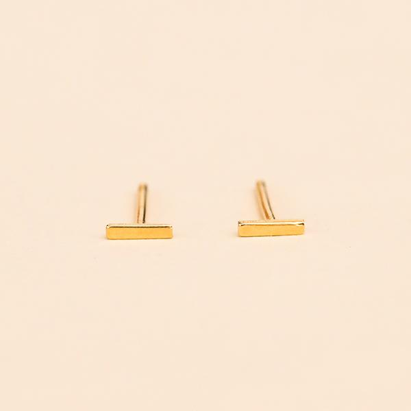 Small Bar Stud Gold Vermeil - Pigment