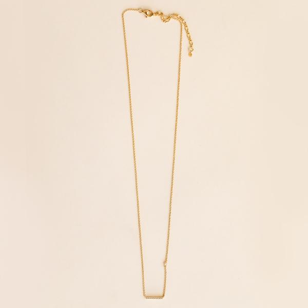 Horizontal Bar Necklace - Pigment