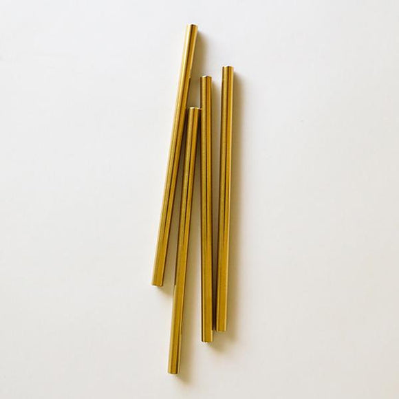 Gold Cocktail Straws - 4Pk - Pigment