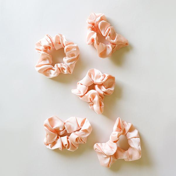 Satin Sleep Scrunchies - Blush - Pigment