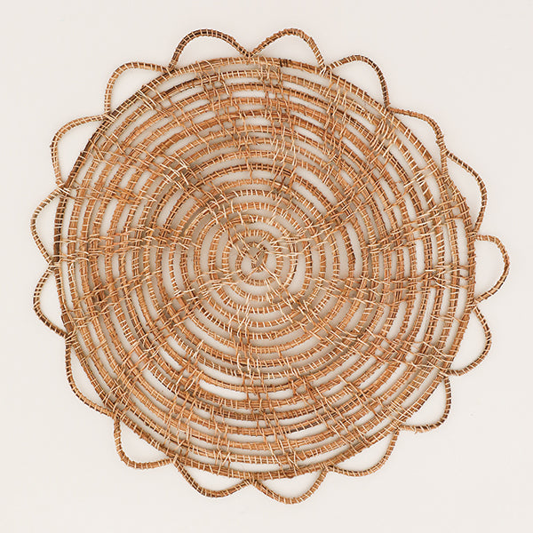 Natural Woven Palm Placemat - Pigment