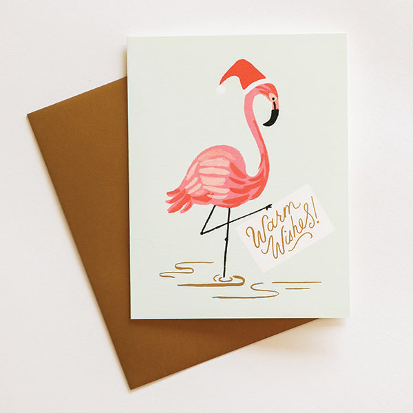 Holiday Flamingo Card - Pigment