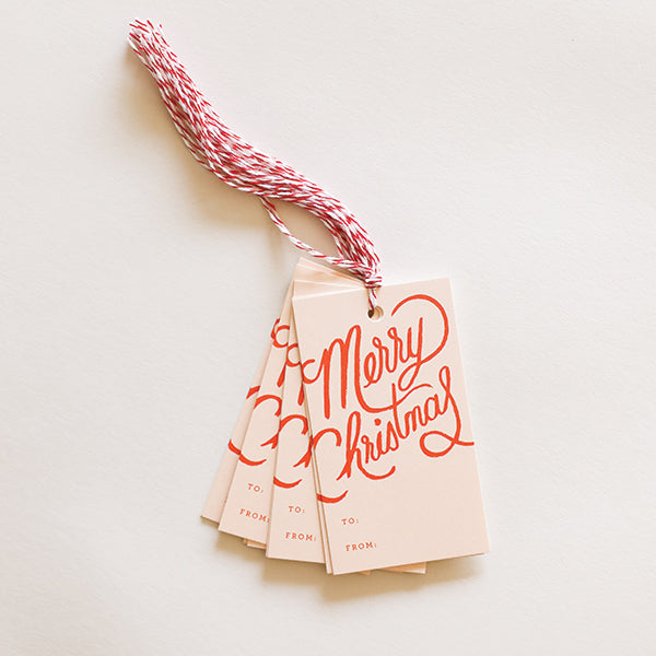 Merry Christmas Gift Tag - Pigment