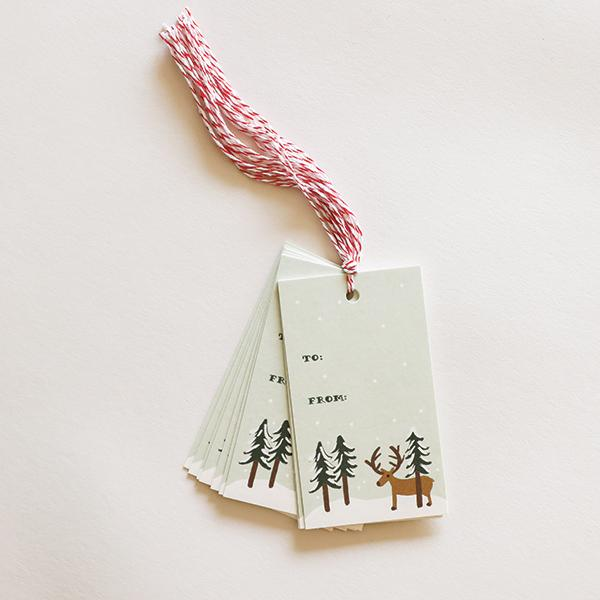 Reindeer Gift Tag - Pigment