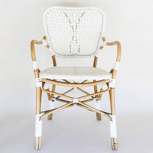 Clemente Arm Chair - Natural/White - Pigment