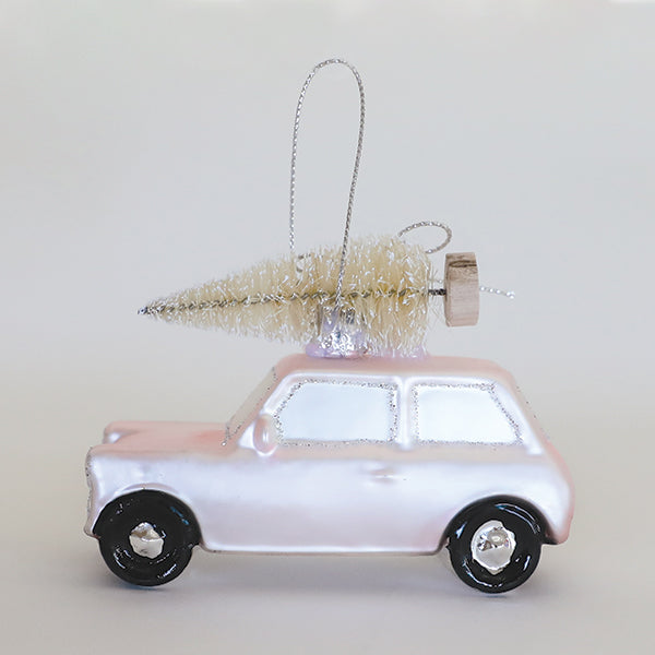 Home For Xmas Pink Car Ornament - Pigment