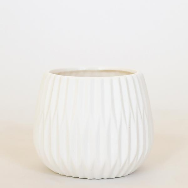 "Fluted Ceramic Pot - 5"" - Pigment"
