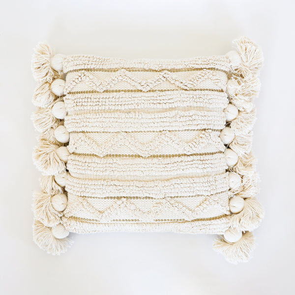Tassel Pillow with Gold Thread - Pigment