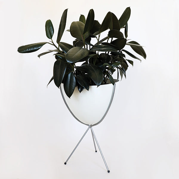 Retro Bullet Planter - Medium with Silver Stand - Pigment