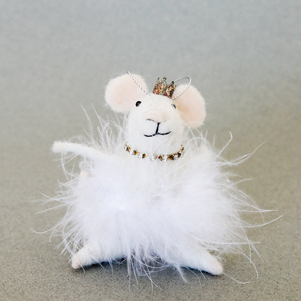 White Swan Mouse Ornament - Pigment