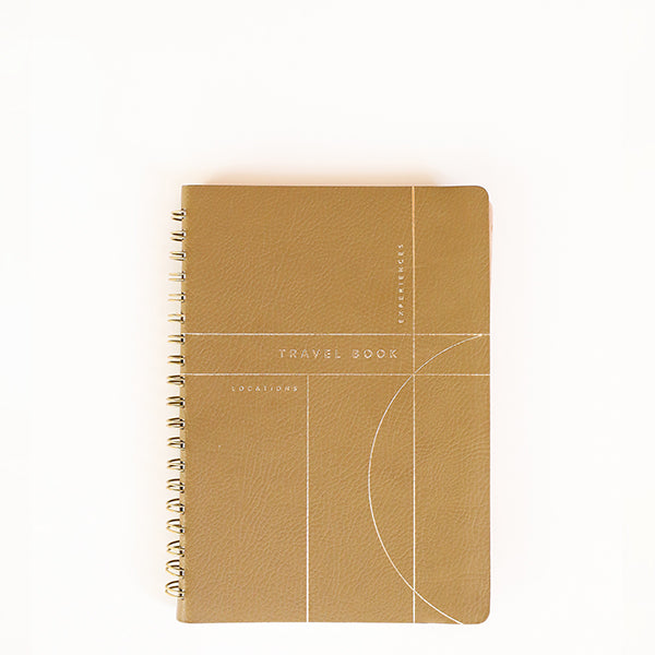 Olive Grid Leather Travel Book - Pigment
