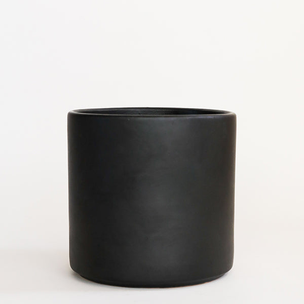 Deep Cylinder Pot-M Black - Pigment