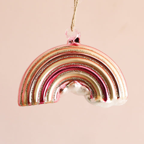 Rainbow Ornament - Pink
