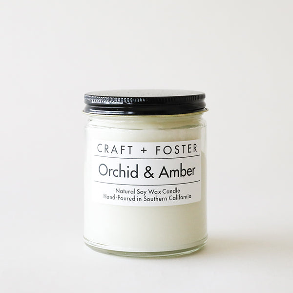 Orchid and Amber - Natural Soy Wax Candle - Pigment