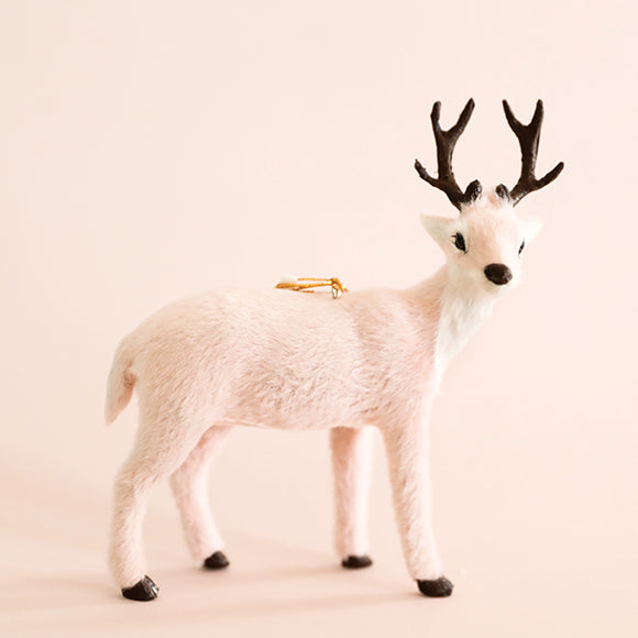 Pink Plush Reindeer Ornament