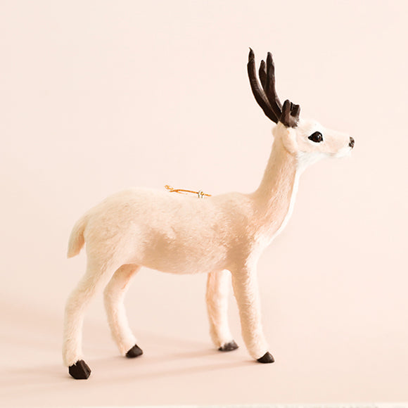 Nude Plush Reindeer Ornament