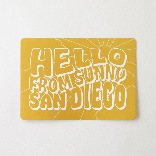 Hello From Sunny Sd Postcard - Pigment