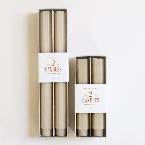 Parchment Fancy Taper Candles - Pigment