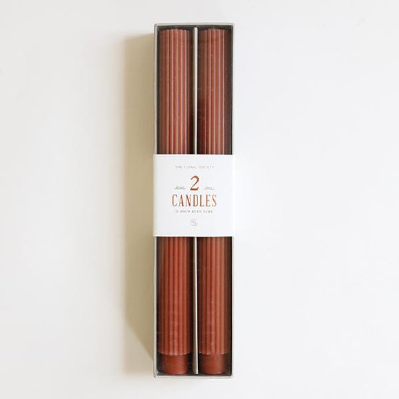 Clay Fancy Taper Candles - Pigment