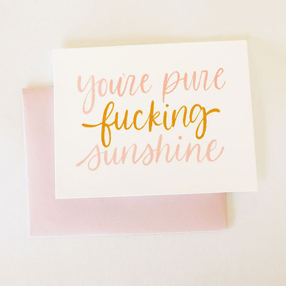 Pure Sunshine Card - Pigment