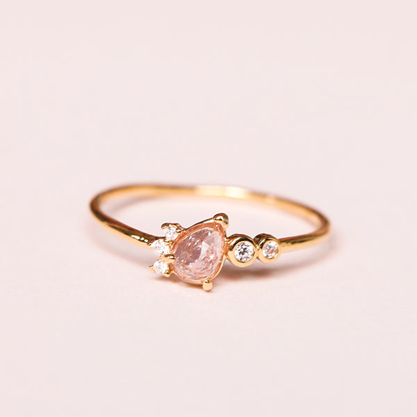 Teardrop Crystal Ring