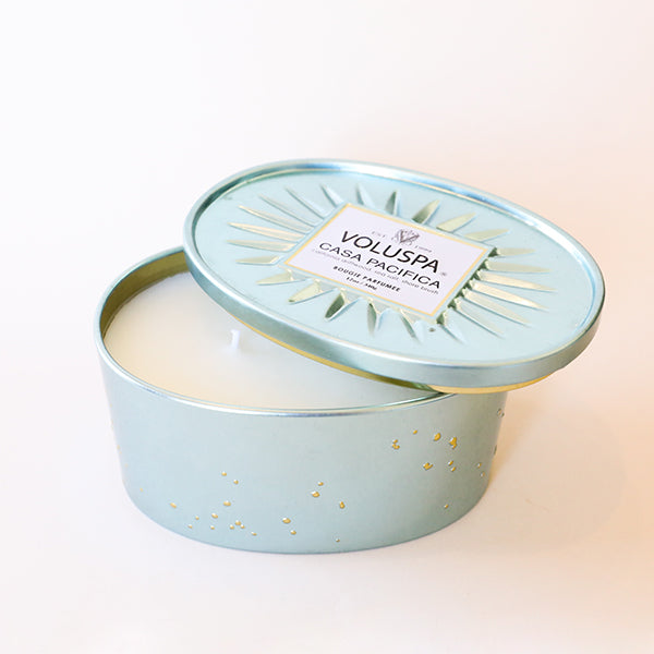 Casa Pacifica - 2 Wick Tin Candle - Pigment