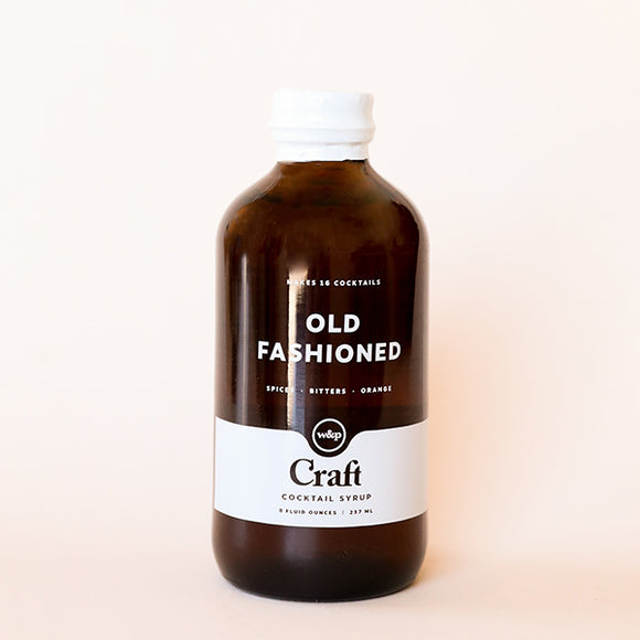Old Fashioned Cocktail Syrup - W and P