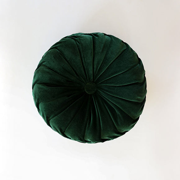 Hunter Green Pintuck Velvet Pillow - Pigment