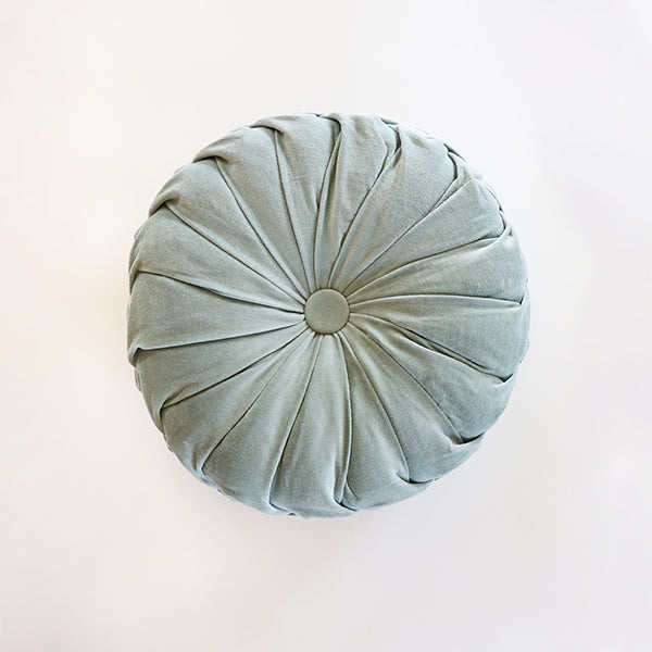 Mint Pintuck Velvet Pillow - Pigment