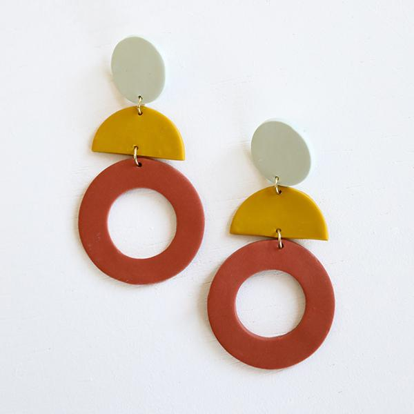 Nancy Sunset Earrings - Pigment