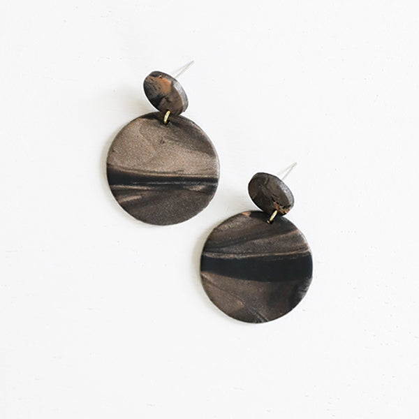 Rachel Metallic, Earrings - Pigment