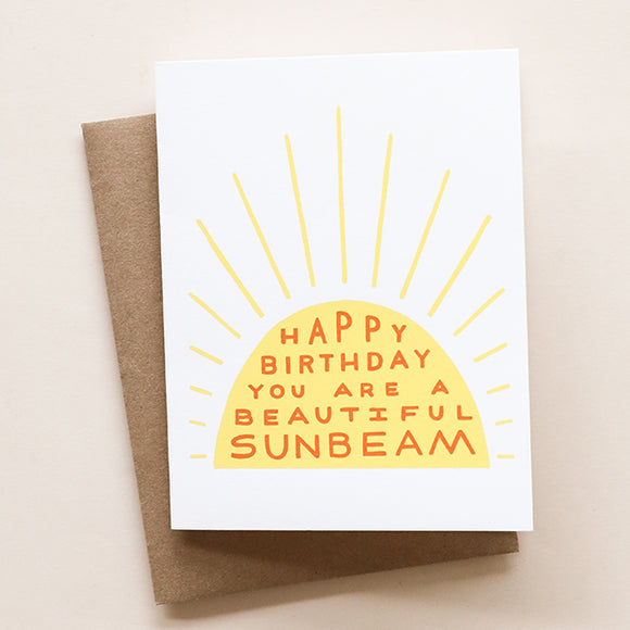 Birthday Sunbeam Card - Pigment