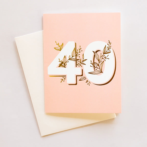 No. 40 Floral - Birthday Card